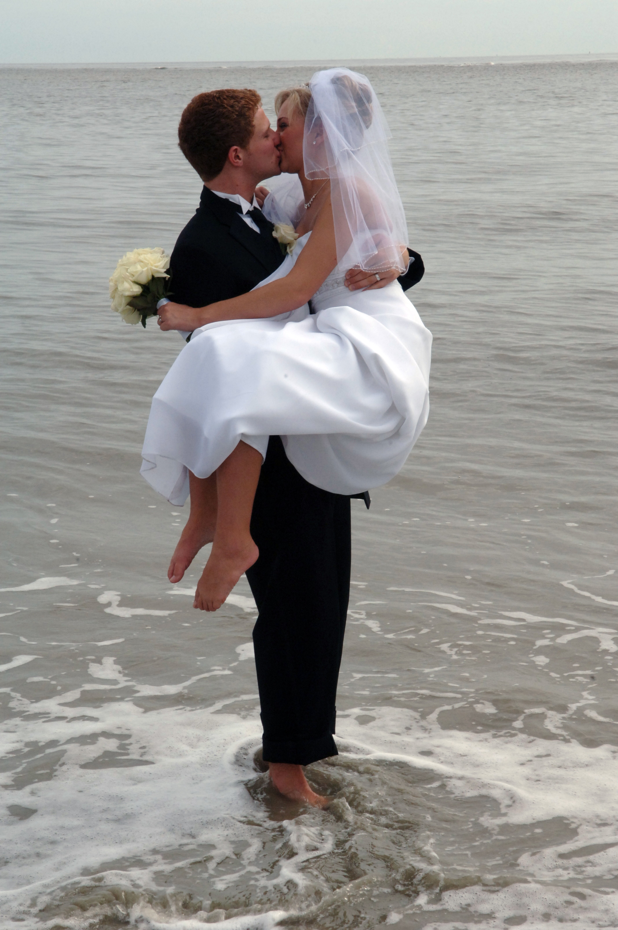 Bride & Groom in the Ocean