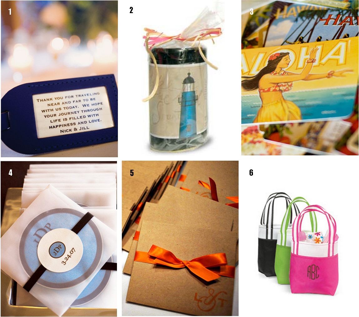 Cool Wedding Gifts For Young Couples: Destination Wedding Favor Ideas