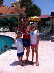 Christina and Kids on 4th of July