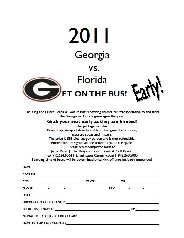 Georgia Florida Football Game Bus