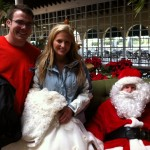 Santa with a Bride & Groom