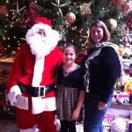 santa with girls
