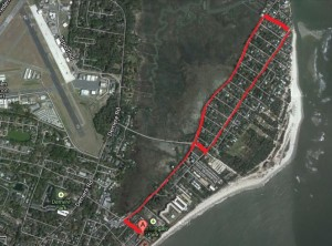 Marsh & East Beach Bike Route
