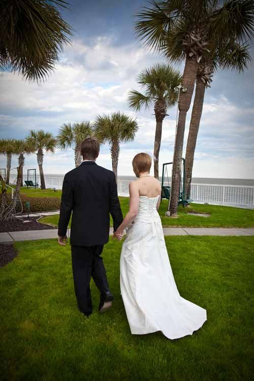 Wedding on the Oceanfront Lawn