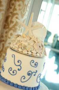 seashell cake topper