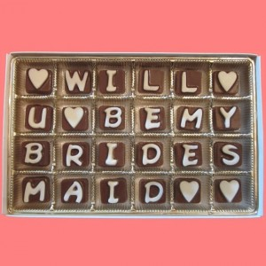 Box of Chocolates for Bridesmaids