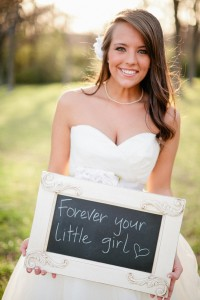 Bride with chalkboard