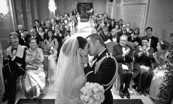 First Kiss Wedding Photo