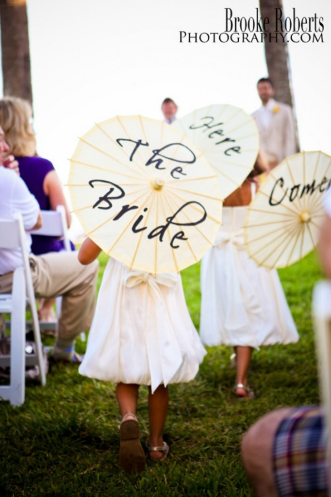 Flower Girl Umbrellas