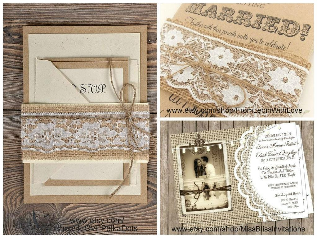 Burlap and Lace Wedding Decorations | The King And Prince Blog