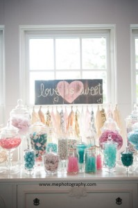 Wedding Candy Bar in Pastels