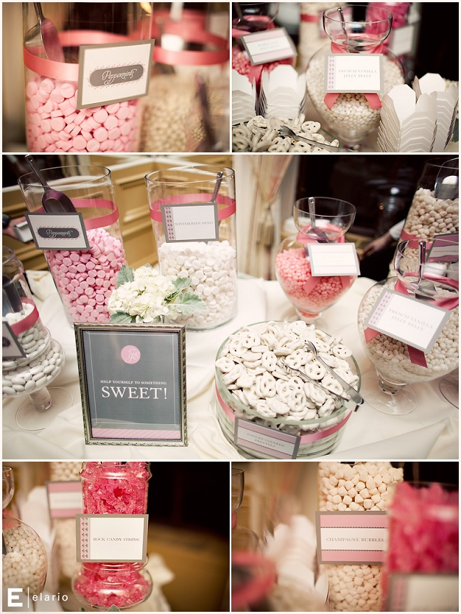 The ultimate dessert bar for your wedding the king and prince blog wedding candy bar in pink junglespirit Choice Image