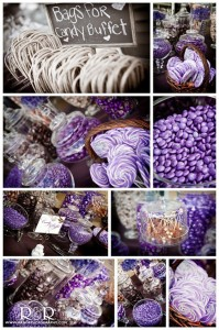 Wedding Candy Bar in Purple