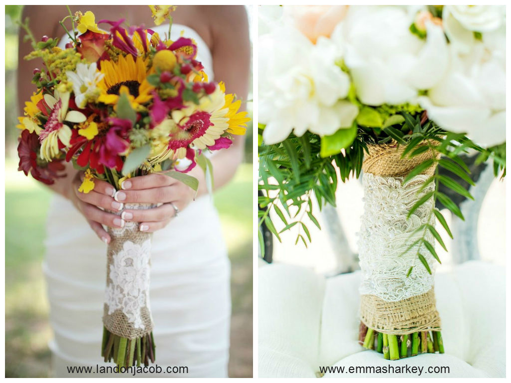 how to make burlap and lace flowers