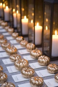 Pumpkin Name Cards for Wedding