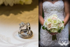 Rings and Bouquet Close-up