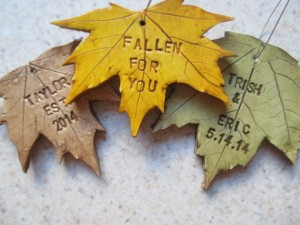 Leaf Ornament Wedding Favors