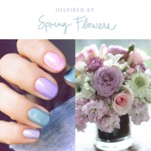 Pastel Wedding Manicure