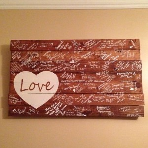 Wooden Guestbook for Wedding