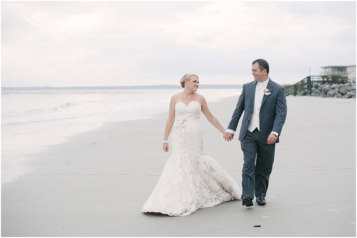 Wedding Photo Walking on the Beach