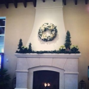 Mantel Wreath at The King and Prince