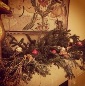 Christmas Decorations on Mantel
