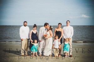 Family Beach Wedding Photo