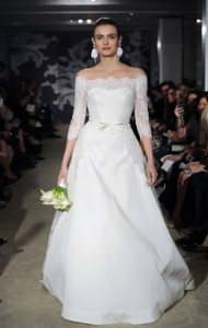 Carolina Herrera Off the Shoulder Wedding Dress
