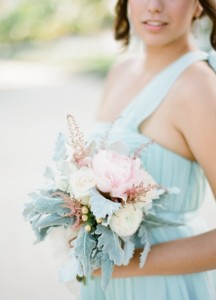 aquamarine bridesmaid dress