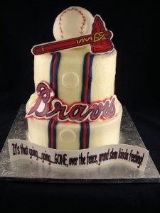 Braves Groom's Cake