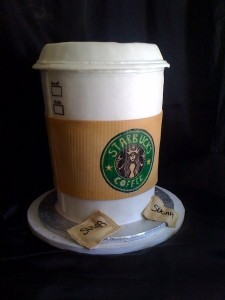 Starbucks Groom's Cake