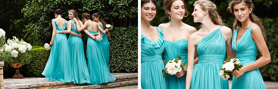 Mix and Match Bridesmaid Dresses from Vatana Watters