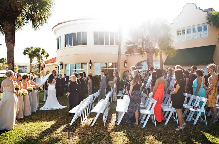 Wedding Ceremony on Oceanfront Lawn