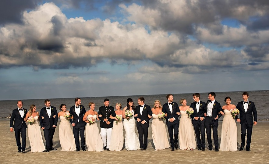 Wedding Party on St. Simons Island
