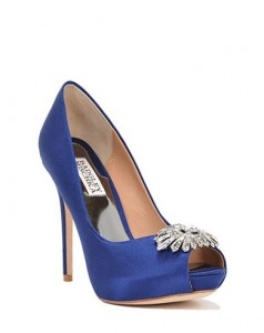 Badgley Mischka Blue Peep Toe