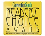 Readers' Choice Award from Convention South Magazine