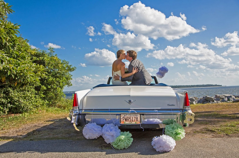 Wedding photo on St. Simons Island