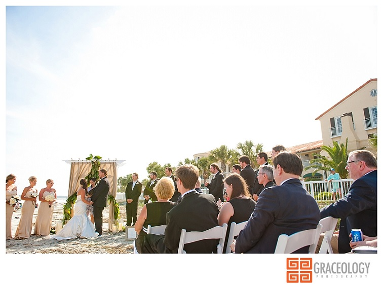 Wedding in front of The King and Prince Resort