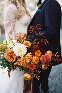 Fall Themed Wedding Bouquet
