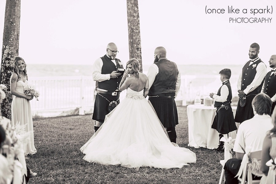 Oceanfront wedding on St. Simons Island