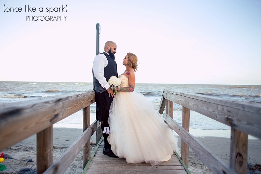 Wedding photo on St. Simons Island Pier