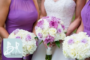 Purple and Cream Wedding Bouquets