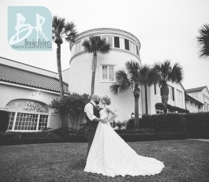 Wedding Photo on Oceanfront Lawn at The King and Prince