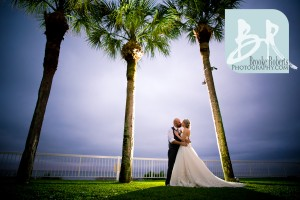 Oceanfront Lawn Wedding Photo