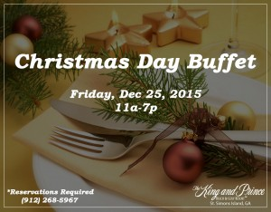 Christmas Buffet on St Simons Island, GA