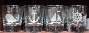 Set of 4 Nautical Glasses