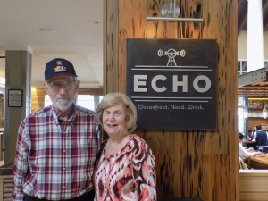Seth Burgess and his wife at ECHO in October 2015