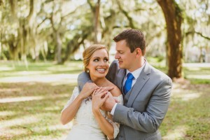 Bride and Groom on St. Simons Island