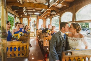 Wedding Party on St. Simons Island Trolley