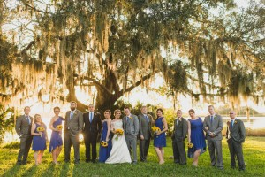 Bridal Party Under Oak Tree